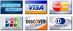 VISA - MASTERCARD - DINERS CLUB - DISCOVER - JCB - AMERICAN EXPRESS